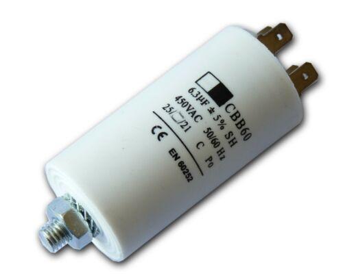 Condensador de 6.3uf CBB60 ficha terminales