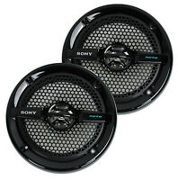 2) Sony Xs-mp1611b 6.5 140w Dual Cone Atv/utv Speakers Stereo White Xsmp1611b