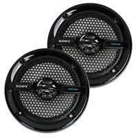 2) Sony Xs-mp1611b 6.5 140w Dual Cone Atv/utv Speakers Stereo White Xsmp1611b