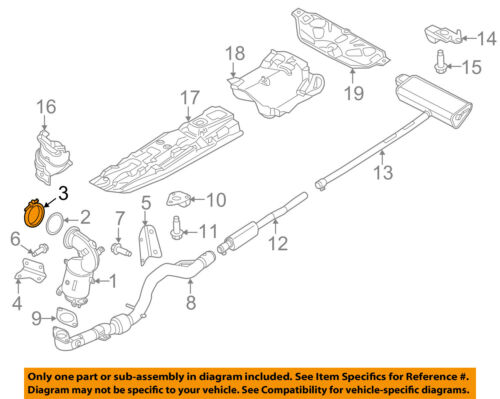 CHRYSLER OEM Exhaust-Converter /& Pipe Clamp 68096257AA