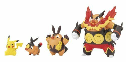 Pokemon Evolution Series Pro Model Tepig - Chaoboo - Enbuoh - Pikachu Plamo New