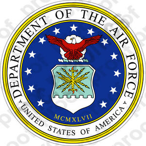 Sticker usaf department of the air force seal ebay for Decor 6 form air force