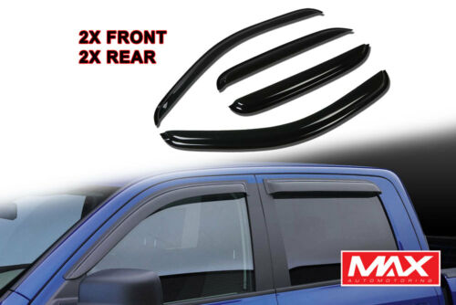 14-18 Silverado GMC Sierra Crew Cab Side Window Visor Rain Weather Guard 4PCs