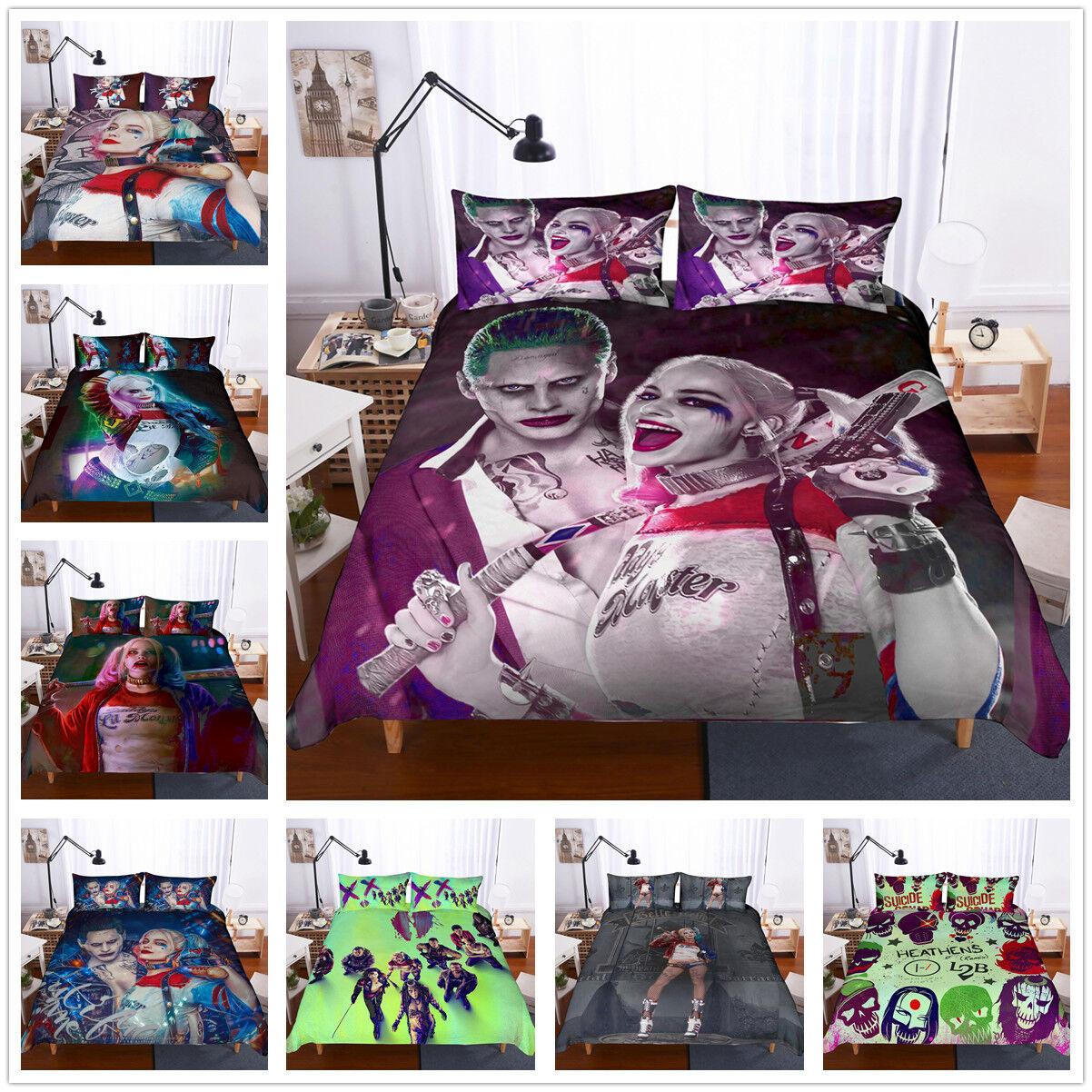 3D Suicide Squad Bedding Set Harley Quinn Girl Quilt Cover Comforter Cover Set