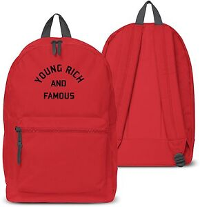 Young Rich and Famous Back pack Boys Girls School Bag Holdall Gym ... fda0b6be508a6