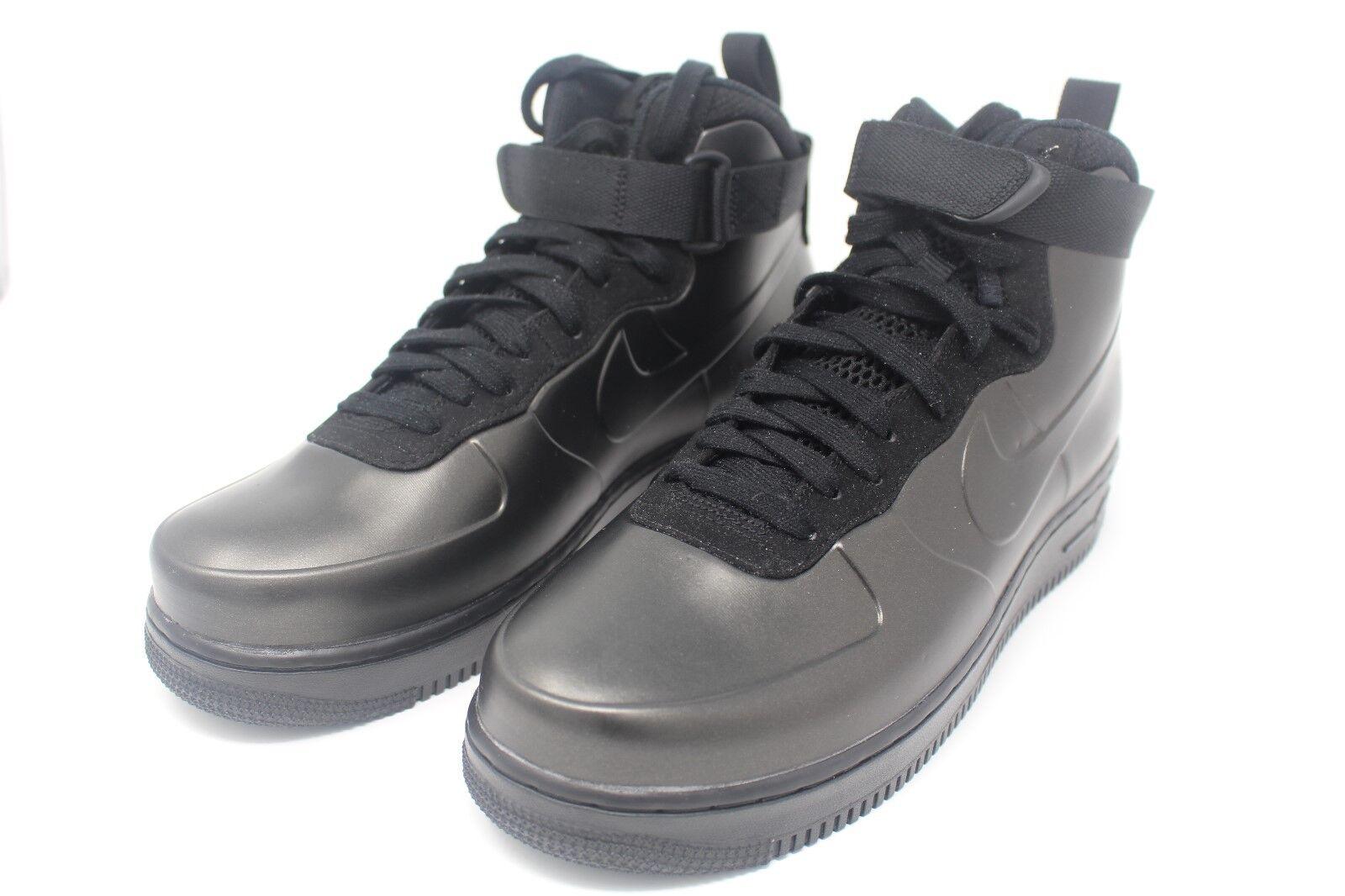 Nike Air Force 1 Foamposite Cup Black Black AH6771-001 Size 9