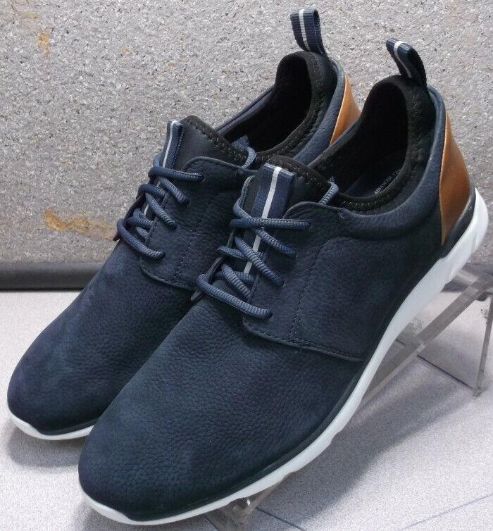 252949X MS50 Men's shoes Size 8 M Navy Leather Lace Up Johnston & Murphy