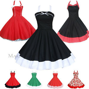 d1cf7b3e9612 Maggie Tang 50s Pinup VTG Polka Dots Floral Rockabilly Swing Dress K ...