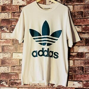 Adidas Classic Green Logo T Shirt Mens Medium Relaxed Fit 90s Style Throwback
