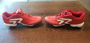 Softball Turf Cleats Red White Size