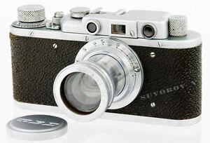 FED-S-1-NKVD-USSR-WWII-LEICA-II-camera-50mm-f-2-lens-f2-0-Leitz-Summar-copy-RARE