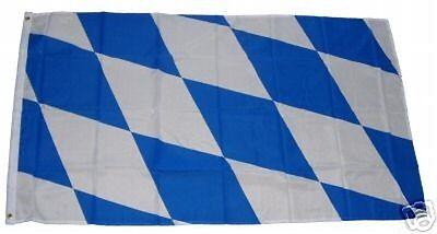 Fahne Flagge Bayern Raute mit Wappen im Hochformat verschiedene Größen