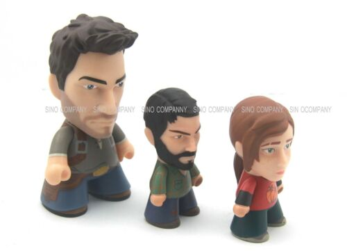 3 x The Last Of Us Titans Vinyl Figures Playstation Joel Ellie Nathan Drake