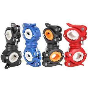 Rotation Bicycle Handlebar Mount Bracket Bike Flashlight Torch Clamp Holder Clip