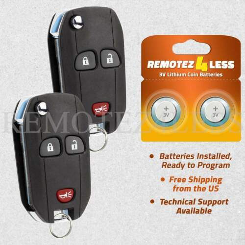 2 Remote For 2006 2007 2008 2009 2010 2011 Chevrolet HHR Car Flip Key Fob 636
