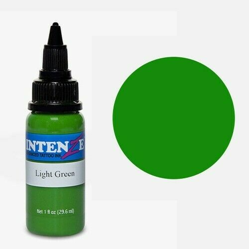 GENUINE Intenze Light Green Tattoo Ink 1oz (30ml) Bottle