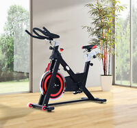 Exercise Bike Indoor Cycling Cardio Workout Health Fitness Stationary Home Gym on sale
