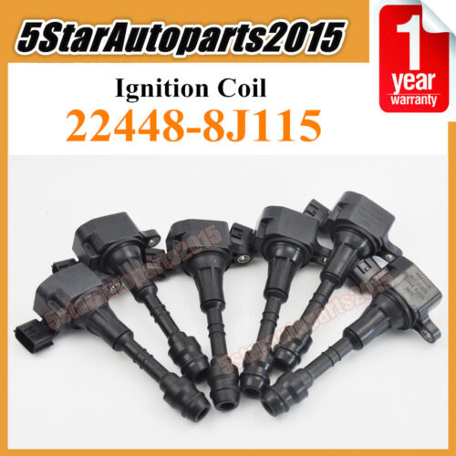 6 Ignition Coil 22448-8J115 for Nissan Altima Maxima Pathfinder Infiniti I35 3.5