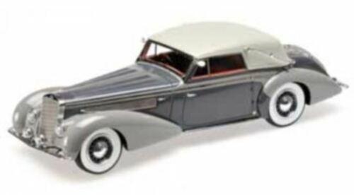 Minichamps 1:18 delage d8-120 cabriolet-darkgrey