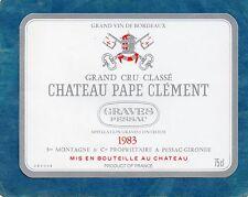 GRAVES GCC VIEILLE ETIQUETTE CHATEAU PAPE CLEMENT 1983 75 CL  RARE §13/08§