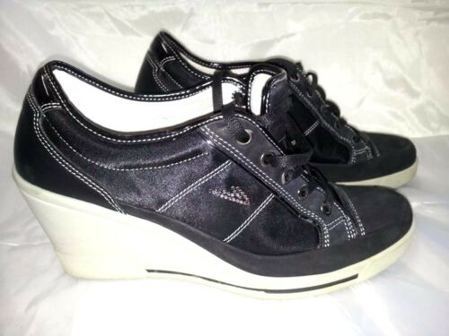 ... Sneakers Donna Nero Zeppa Strass Brillantini Scarpe Woman Shoes 39 Made  In Italy 594b85755f9