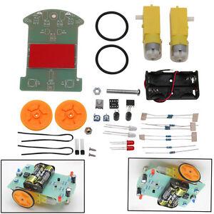 DIY-Kit-Intelligent-D2-1-Patrol-Tracking-Smart-Car-Parts-Electronic-Suite-New