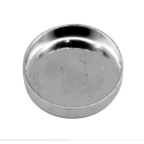 10mm rond argent sterling 925 plain bezel cup metal clay//cabochon setting