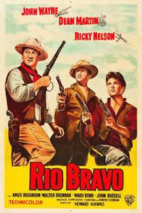 1959 RIO BRAVO FRENCH VINTAGE MOVIE POSTER PRINT 36x27 9MIL PAPER