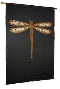 Noren-Mitsuru-Japanese-linen-door-curtain-Kakishibu-dragonfly-88-x-150cm