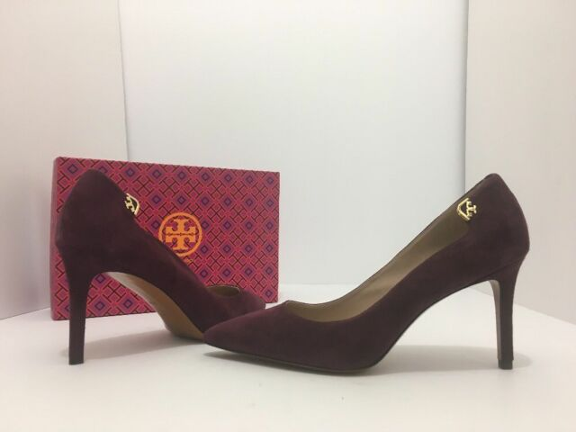 b9c096610ac3 Tory Burch Elizabeth 85mm Port Suede PUMPS HEELS Size 7.5 M Stiletto  Pointed Toe for sale online
