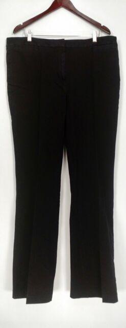 Isaac Mizrahi Live! Women's Jeans Sz 18T 24/7 Denim Boot Cut Black A280406