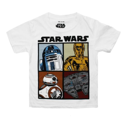 Official Ages 3-12 Star Wars Kids Boys T-Shirt