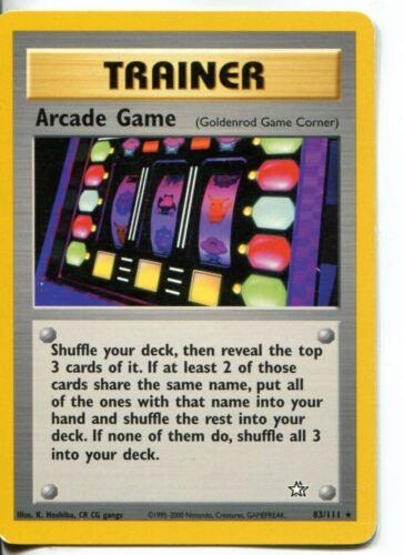 Pokemon Neo Genesis Rare Card #83//111 Arcade Game