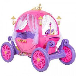 24v Disney Princess Carriage Ride On Toy Girls Kids