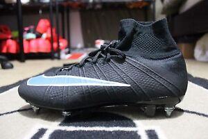 NEW Nike ID Mercurial Superfly SG-PRO Nike iD Women Size 10 Black ... 031e8f3dc4