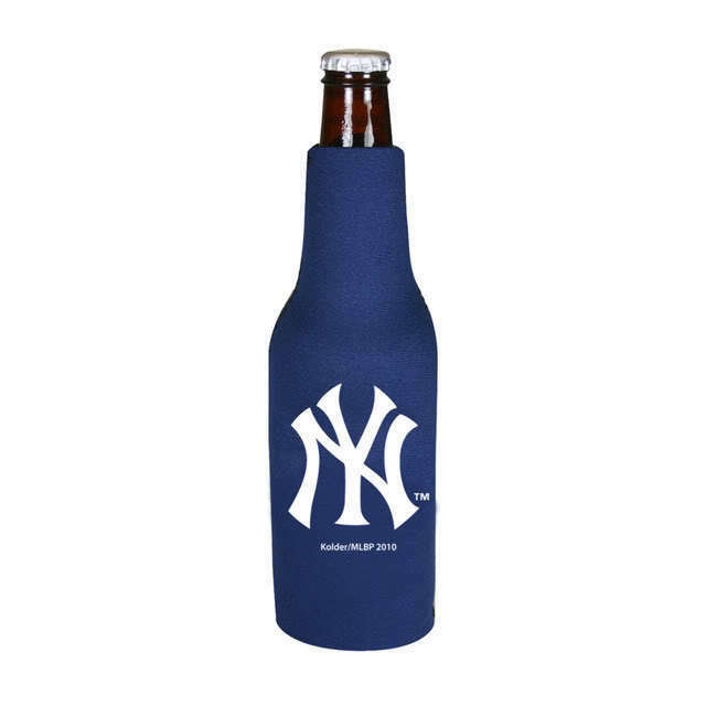 2 NEW YORK YANKEES BEER SODA WATER BOTTLE ZIPPER KOOZIE HOLDER MLB BASEBALL