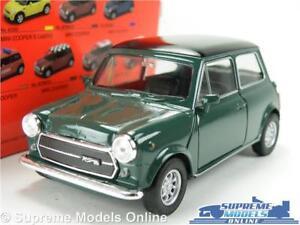 Morris-Austin-Mini-Cooper-Auto-Modello-verde-1-36-1-38-Taglia-aprire-le-porte-T4