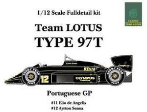 Mfh Model Factory Hiro 1/12 Équipe Lotus Type97t Portuguesegp Multi Matière Kit