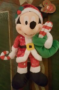 Peluche / Plush Mickey 12 IN / 12 Pouces Disneyland Paris Noel / Christmas 2017