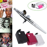 Airbrush Makeup System Kit Air Compressor Beauty Nail Face Art Paint Airbrush