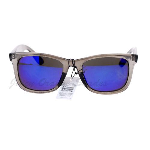 KUSH Fashion Sunglasses Multicolor Mirror Lens Gray Rectangular Frame