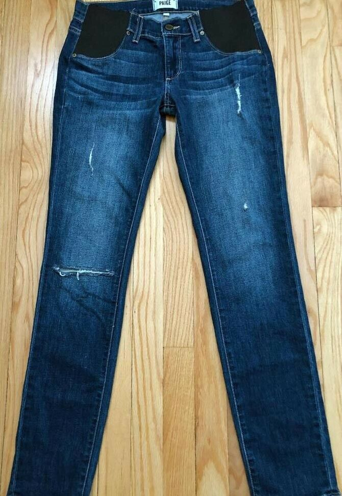 PAIGE JIMMY JIMMY SKINNY JEANS RIPPED DISTRESSED WOMEN'S 26