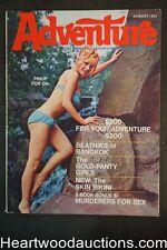 Adventure Aug 1967 Ross MacDonald Lew Archer, Basil Gogos, Bob Powell - High Gra