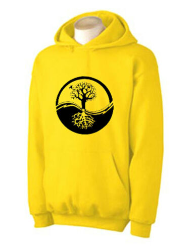 Choice Of Colours YING YANG TREE OF LIFE HOODY Wicca Druid Pagan Taoism T-Shirt