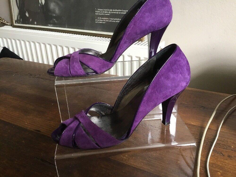 Hobbs Purple Suede Sandals shoes Heels Size 37.5 Uk 4.5