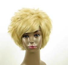 perruque afro femme 100% cheveux naturel courte blonde ref LAET 07/22