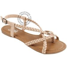 2568744f9 item 1 New Women s Strappy Roman Gladiator Sandals Flats Crossover Shoes  -New Women s Strappy Roman Gladiator Sandals Flats Crossover Shoes