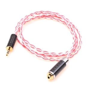 2.5mm Male to 2.5mm Female Trrs Audio Adapter PCOCC Silver Plated Cable