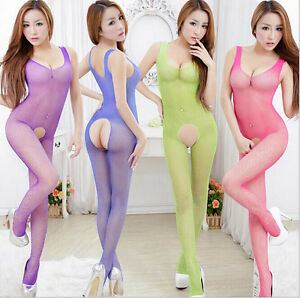 Women-Lady-Sexy-Fishnet-Hot-Sleepwear-Lingerie-Underwear-G-string-fascinating-CA