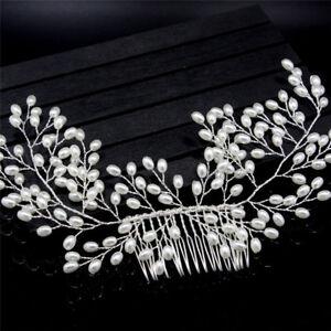 Lujo-Vintage-novia-accesorios-de-pelo-hecho-a-mano-joyas-de-boda-de-perlas